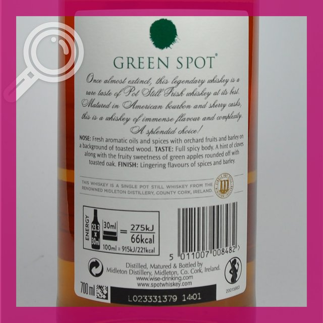 Green Spot: Single Pot Still 40,0%vol 70cl