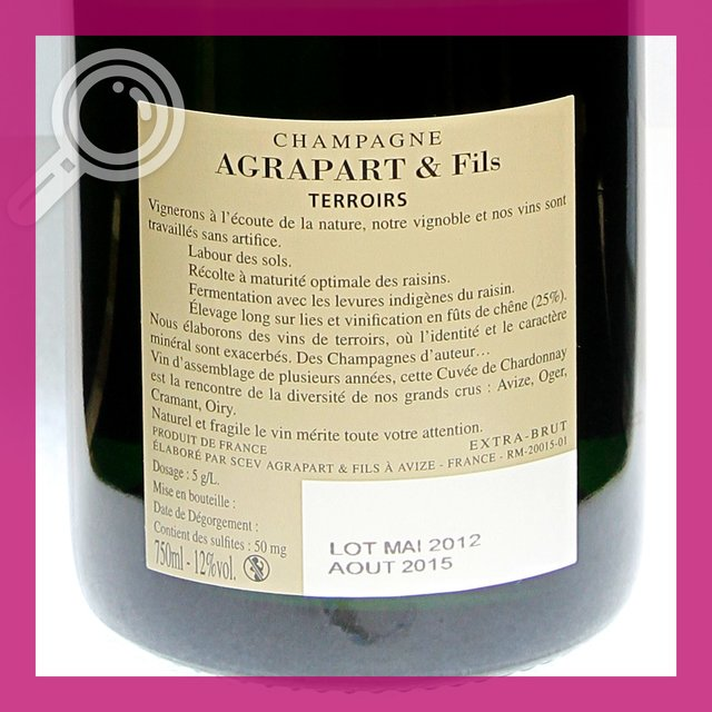 Agrapart & Fils Terroirs: extra-brut 12,0%vol 75cl