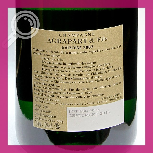 Agrapart LAvizoise: 2007 extra-brut 12,0%vol 75cl