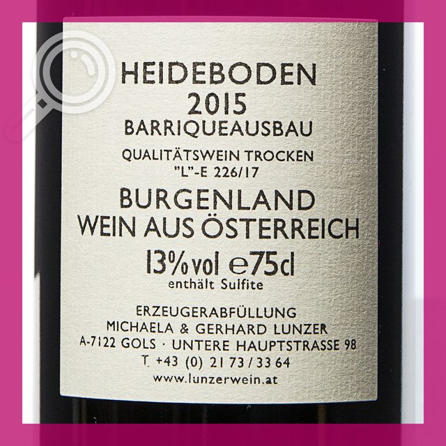 Lunzer Heideboden: 14,0%vol 75cl