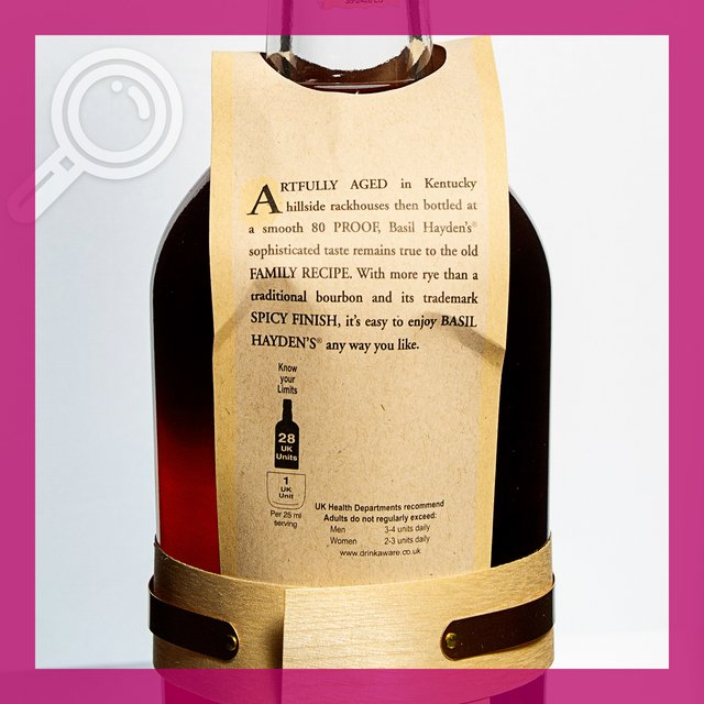Basil Haydens Small Batch Bourbon: Whiskey 40,0%vol 70cl