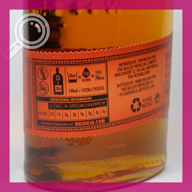Bulleit Bourbon: 45,0%vol 70cl