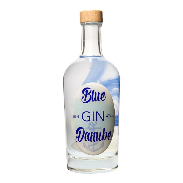 Blue Danube Gin 50cl: 47,0%vol Vienna Craft Distillery