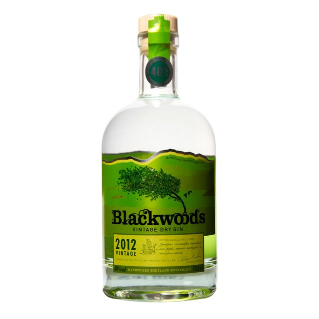 Blackwoods Vintage Dry Gin 2017: 40,0%vol 70cl