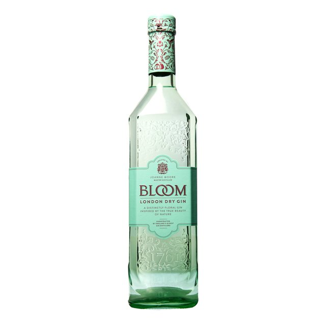 Bloom Premium London Dry Gin: 40,0%vol 70cl