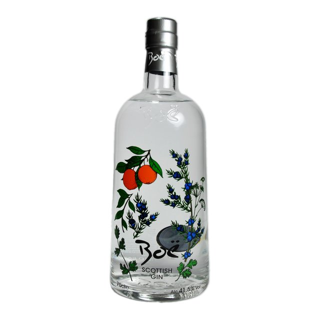 Boe Superior Gin: 47,0%vol 70cl