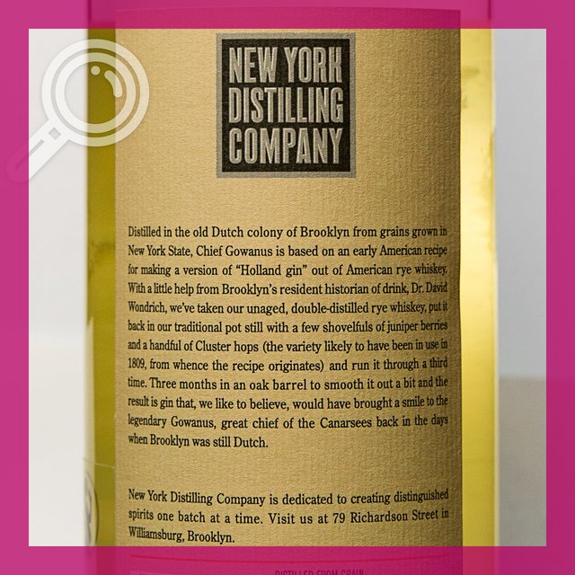 Chief Gowanus: Traditional new-netherland Gin 44,0%vol 70cl