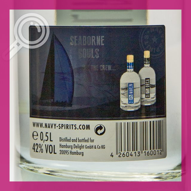 Marlin 42: London Dry Gin 42,0%vol 50cl