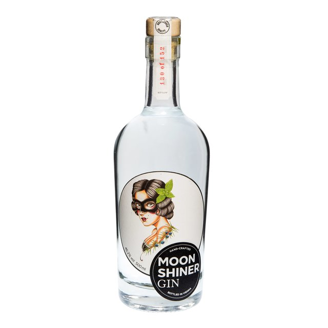 Moonshiner Gin Mint Lady: One Shot Destillation 46,2%vol 50cl