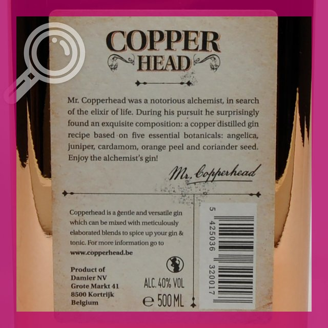 Copperhead: the Alchemists Gin 40,0%vol 50cl