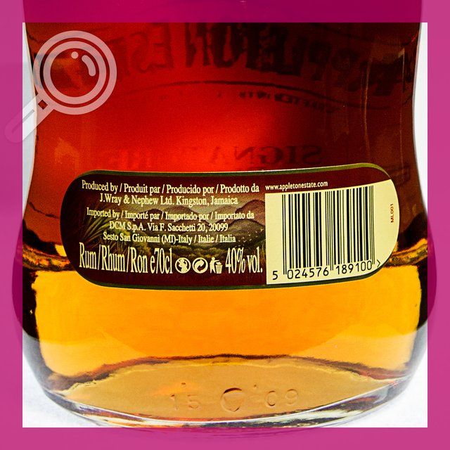 Appleton Estate Signature Blend: Jamaica Rum 40,0%vol 70cl